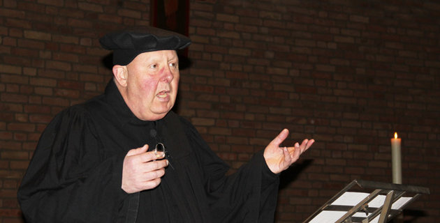 Manfred Erwe als Martin Luther